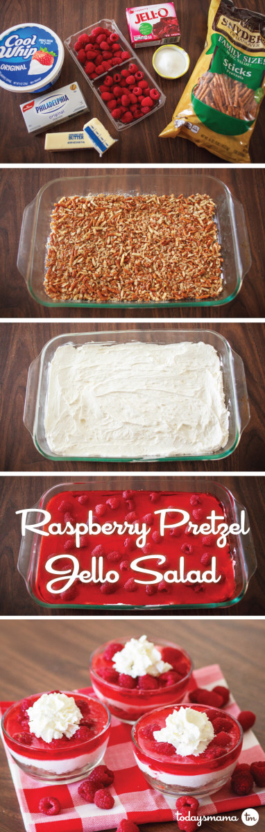best raspberry pretzel jello salad