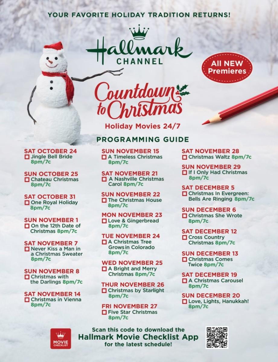 Hallmark 2020 Christmas Movie Schedule