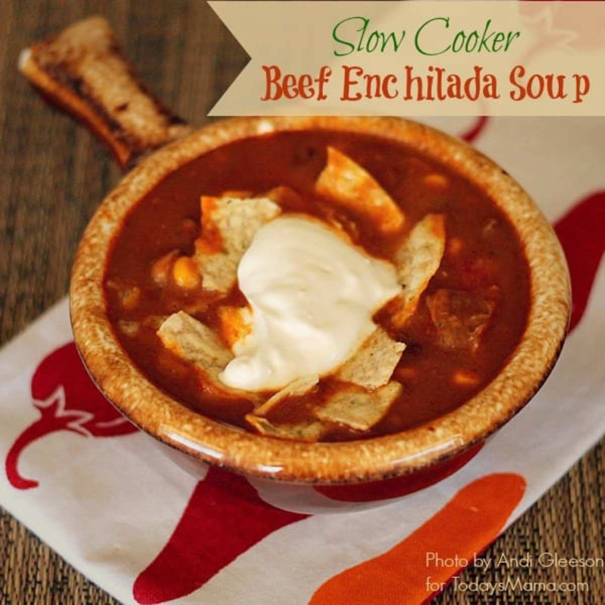 slow cooker beef enchilada soup recipe