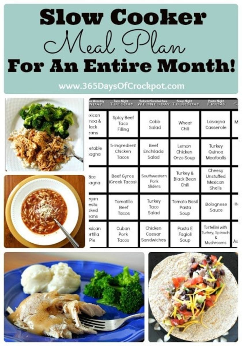 slow cooker meal plan 30 days