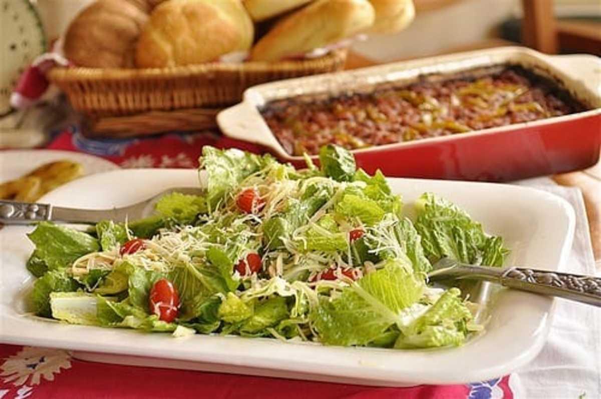 House Salad With Lemon Dressing recipe