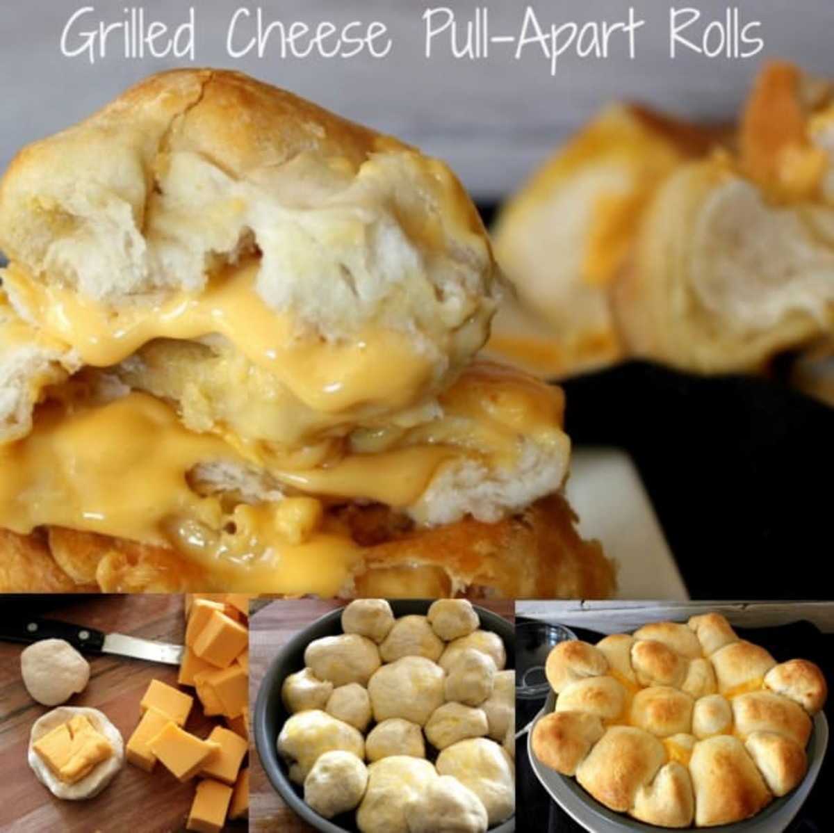 grilled cheese pull apart rolls recipe