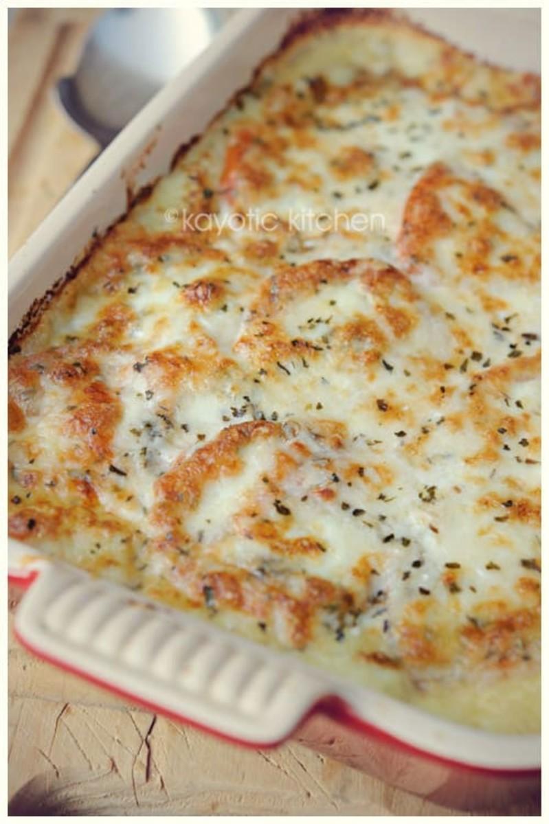 mozarella and potato pie recipe