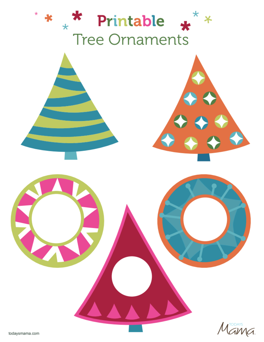 Printable Christmas Ornament with pictures