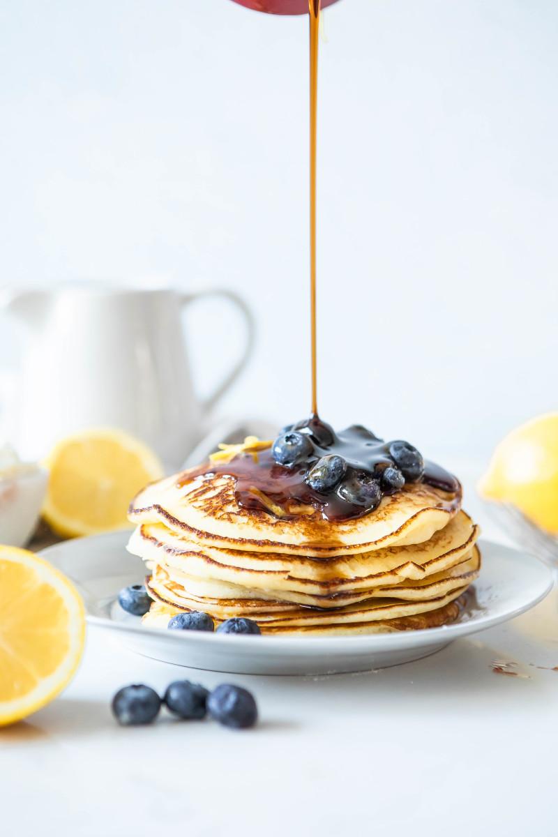 Healthy Pancakes Ricotta Lemon Pancakes